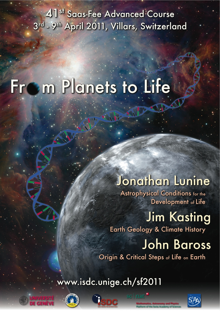 Saas-Fee From Planets to Life Poster
