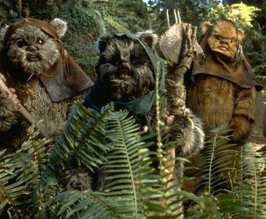 Ewoks (copyright Lucasfilm)
