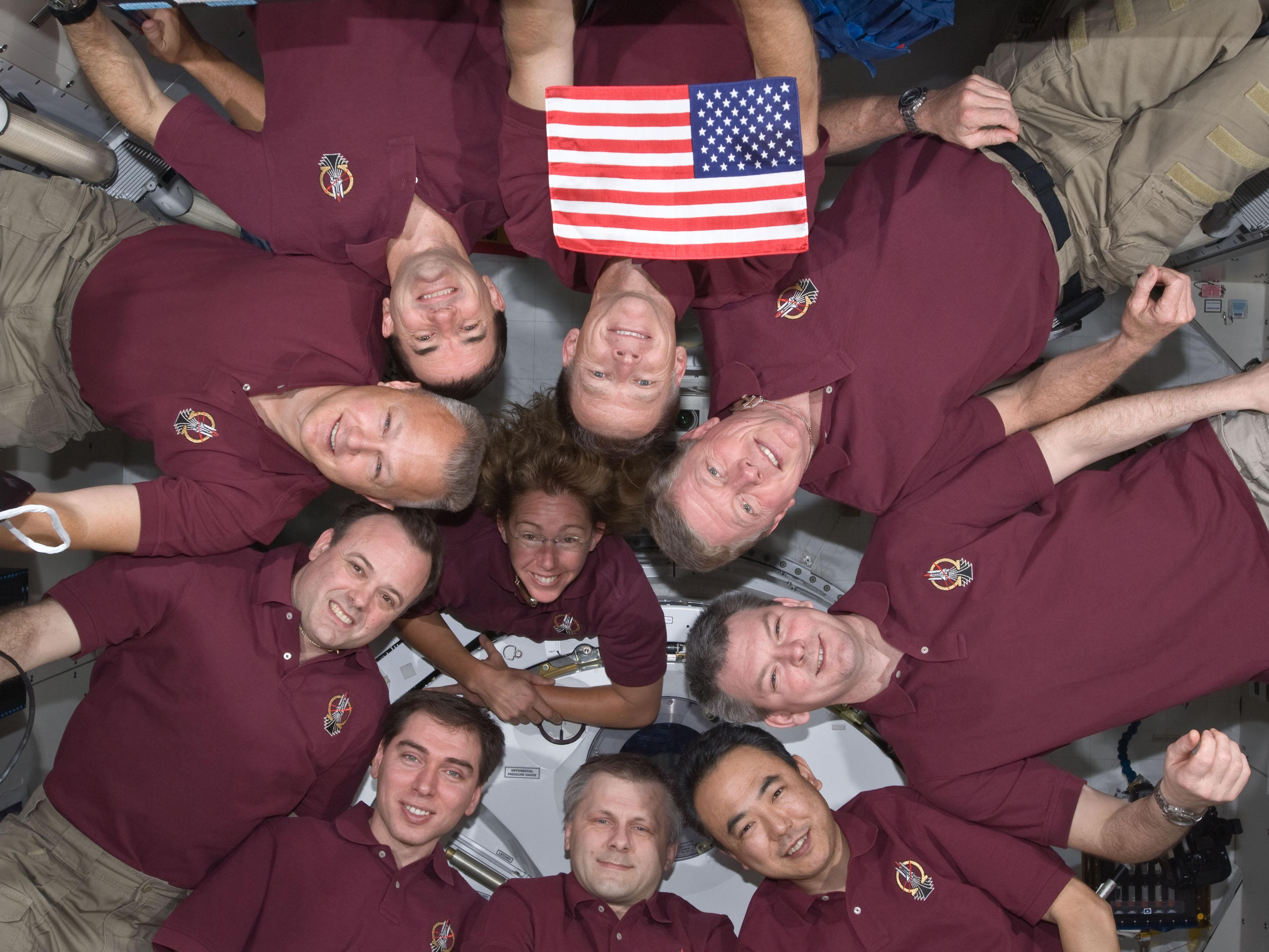 Shuttle & Station Crews (Image Credit: NASA)
