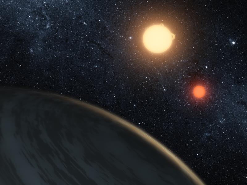 Artist's conception of Kepler-16. Credit; NASA