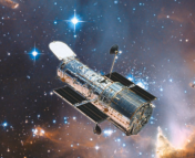 The great instrument faces the stars: Hubble in orbit (artist's rendering).  Image: http://www.savinghubble.com/hubble_html/welcome.php