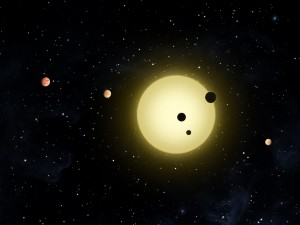 Kepler-11 System (Copyright NASA)