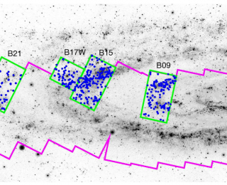 An island universe of star clusters in Andromeda