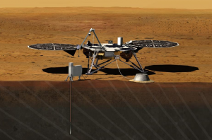 An artist's rendering of InSight in sight (sorry!) on Mars' surface.  From http://www.nasa.gov/mission_pages/mars/news/pia16079.html