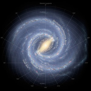 Artist's conception of the Milky Way