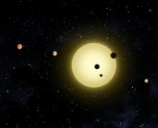 An Artist's Conception of the Kepler-11 System (Copyright: NASA)