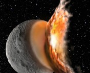 Figure 1 - An artist's conception of a major impact event on Vesta