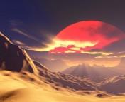 Figure 1. An artist's conception of a desert planet. (Image from www.begann.de)