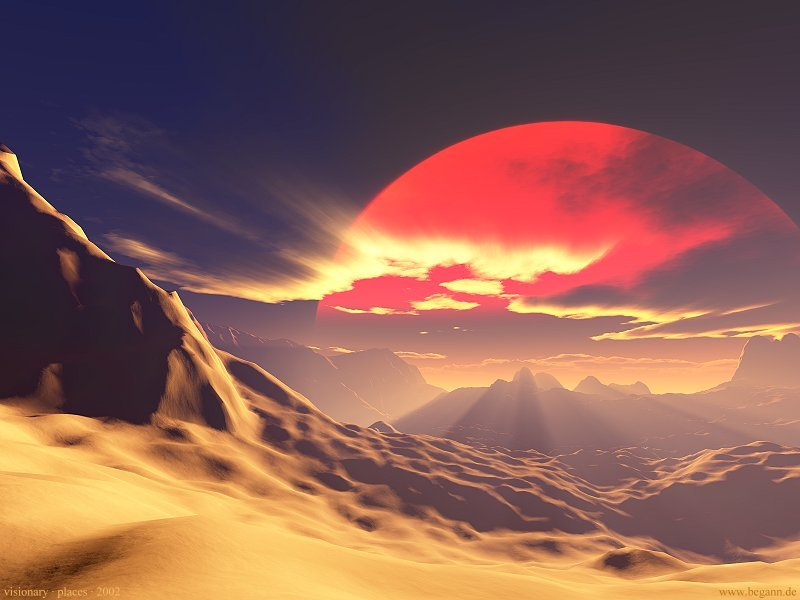 Figure 1. An artist's conception of a desert planet. (Image from www.begann.de)