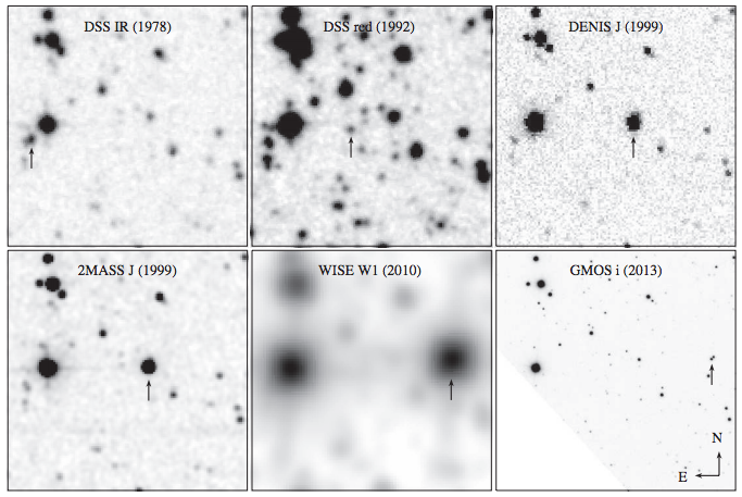 DSS = Digital Sky Survey; DENIS = Deep Near IR Survey of the Southern Sky; 2MASS = 2 Micron All Sky Survey
