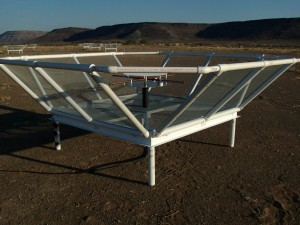 A PAPER dipole antenna in the Karoo desert