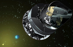 Image of the Planck satellite. Image credit: linksthroughspace.blogspot.com