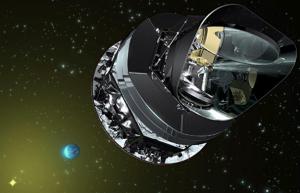 Image of the Planck satellite. Image credit: linksthroughspace.blogspot.com
