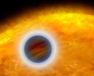 Determining the (minimum) heights of atmospheres on exoplanets