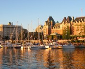 The inner harbor in Victoria, BC