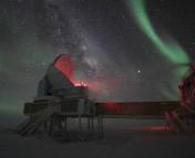 The South Pole Telescope.