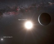 An artist's impression of Alpha Centauri Bb, the closest exoplanet to Earth.  What would you name this planet?  The for-profit organization Uwingu asked that question and sparked a controversy over who gets to name exoplanets.