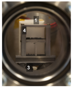 Figure 3: The vacuum chamber with dust (on Earth)