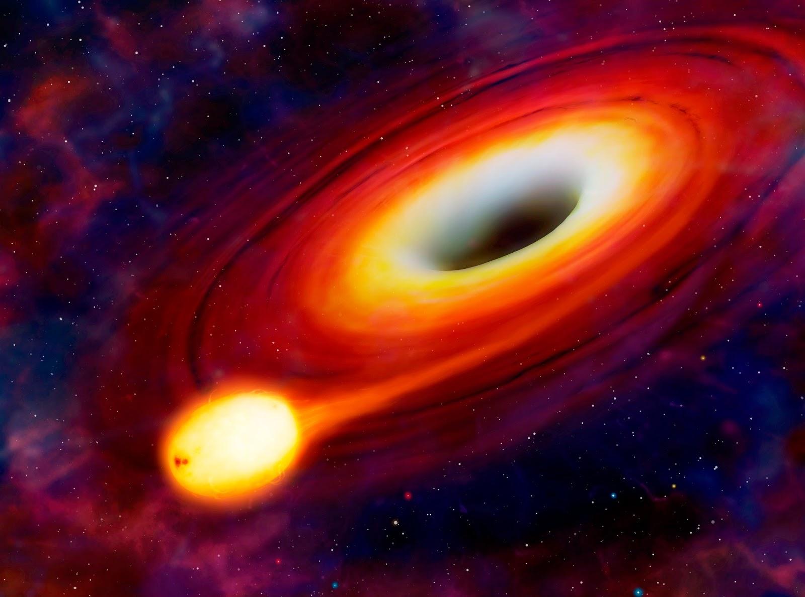 Et andet sulten sort hul fordærver en stjerne astrobitter-8880