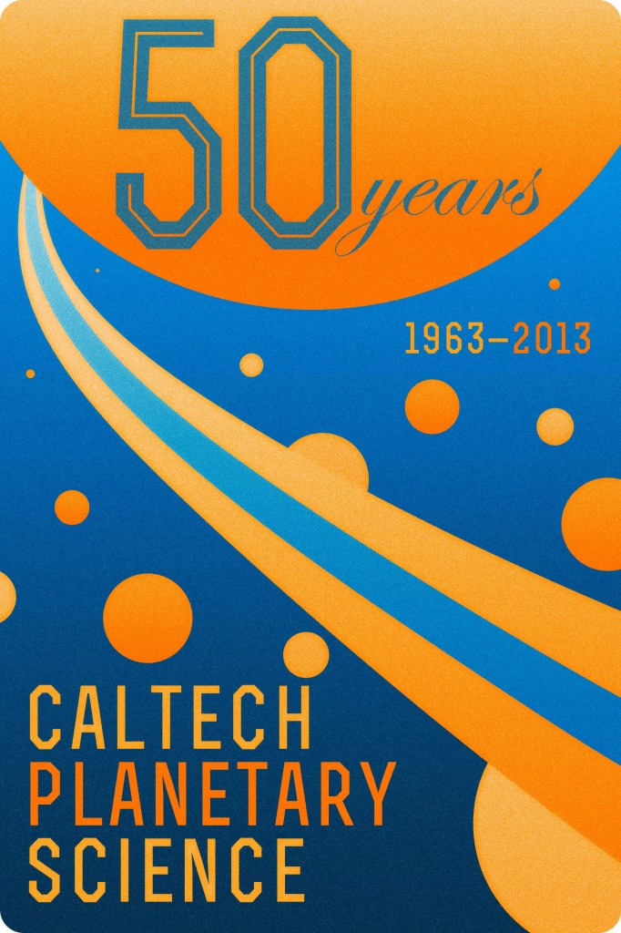 Logo for Caltech Planetary Science's 50th anniversary celebration, designed by graduate student Mike Wong.