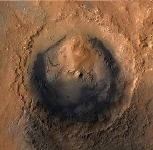 Figure 1 - Gale Crater on Mars, the landing site of the Curiosity Rover.