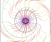 Tendex Lines in Orbital Plane of Binary Intermediate Zone