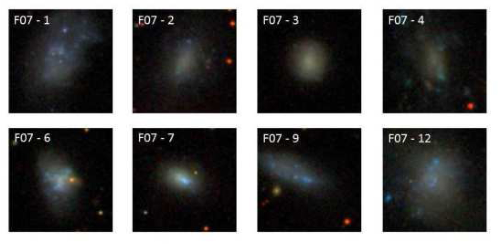 Some of the galaxies classified as genuinely irregular. From Figure 6 in the text.