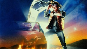 "Cover Art from the 1985 Zemeckis/Gale documentary ""Back to the Future,"" one of the most popular studies of time travel."