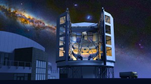 An artist's conception of the Giant Magellan Telescope