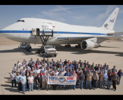 The Stratospheric Observatory for Infrared Astronomy (SOFIA) sits on the ramp in Palmdale, CA as mission staff celebrate its 100th flight. SOFIA may be the latest casualty of our age of austerity. In times of flat budgets, doing anything new requires ending operating missions, some of which may still be producing good science.