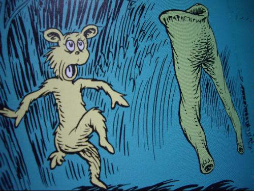"From Dr. Seuss's 1961 classsic, ""What was I Scared of?"""