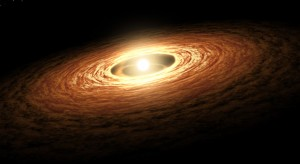 Figure 1. An artists conception of a protoplanetary disk. Image from NASA JPL.