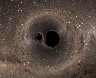 What would a binary black hole merger look like?
