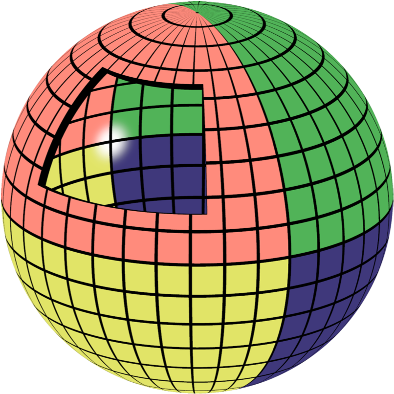 Fig. 3: The background light source, painted on a sphere covering the sky.