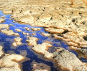 Rocks and water, the site of weathering in the carbon-silicate cycle. (image: NASA)
