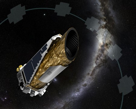 Fig 1: The K2 mission is Kepler's second chance to get back into the planet-hunting game. Kepler's pointing precision has however degraded, but novel pointing-insensitive analysis techniques aim to make up for that. Image credit: NASA/JPL.