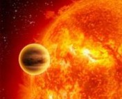 Artist's conception of a hot Jupiter. (NASA)