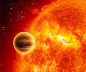 Artist's conception of a hot Jupiter. (NASA)