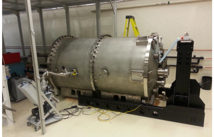 Fig 3: The SPIRou cryostat, under integration at NRC Herzberg, Victoria, Canada. Figure 2 from the paper.
