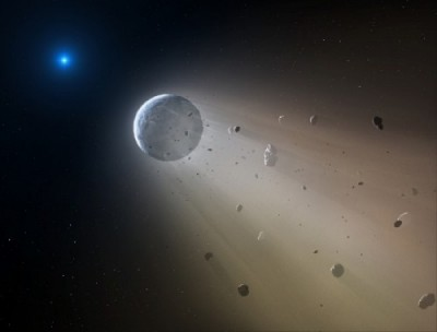 WD 1145+017: An artist's impression of the White Dwarf WD 1145+017, which probably has a disintegrating transiting planet. Image credit Mark A. Garlick.
