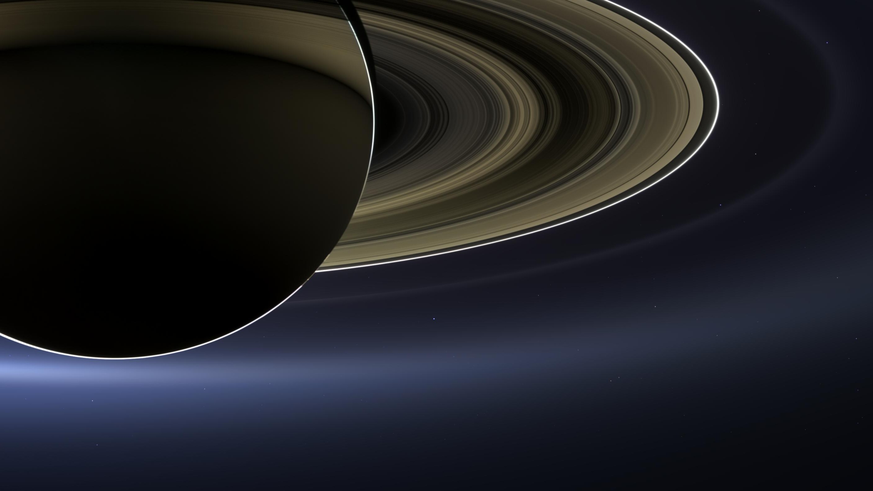 earth from saturn - 1280×720