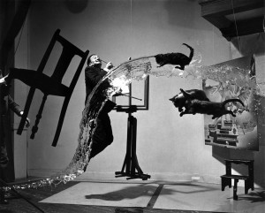 A conversation with a friend convinced me that Dali Atomicus (1948) reminded us of the climax in a symphony piece.