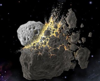 Bridging the gap: asteroid collisions without quantum foam