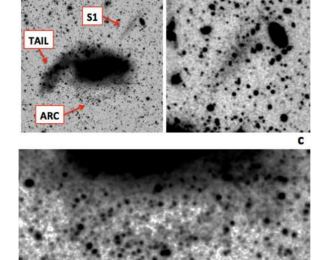 Catching a small galaxy in the act of formation