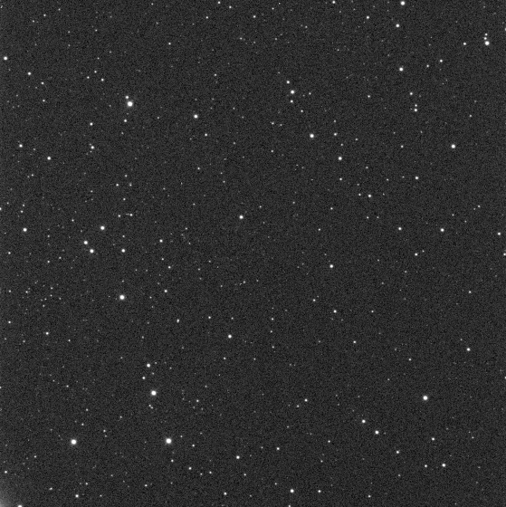 The combined 5x60 second image used to measure the magnitude of V404 Cygni on August 12th 2015.