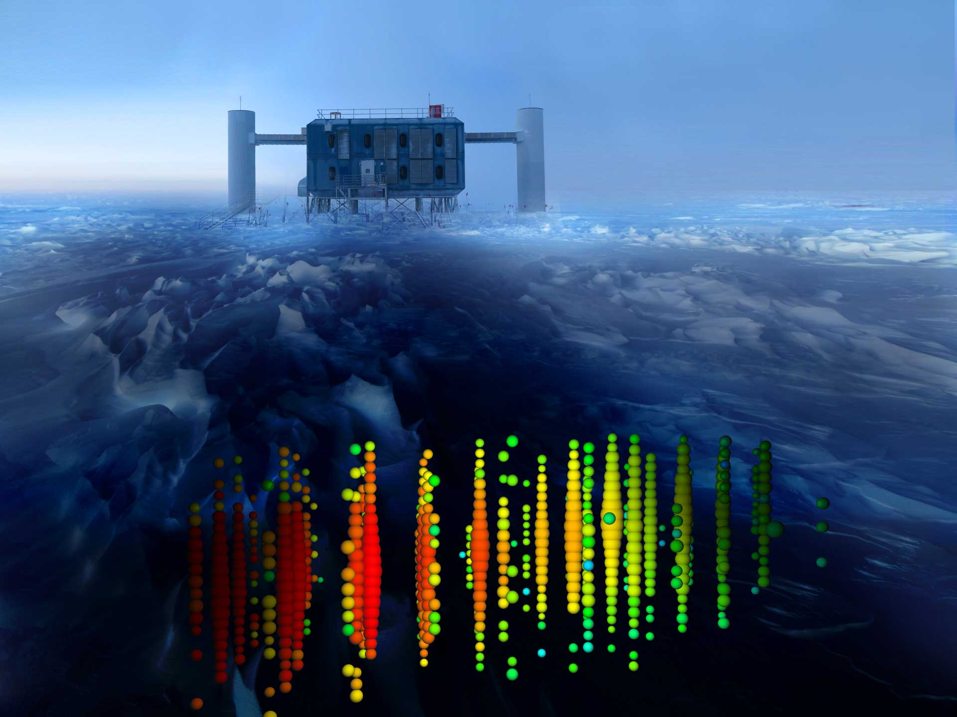 Where are the IceCube neutrinos coming from? | astrobitesIcecube Neutrino Observatory Core