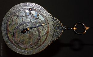 Staryab means astrolabe. This is an astrolabe from the Islamic Art Department at the Louvre. It's an ancient astronomer's instrument used to measure positions of objects in the sky. (Photo by Babak A. Tafreshi.)