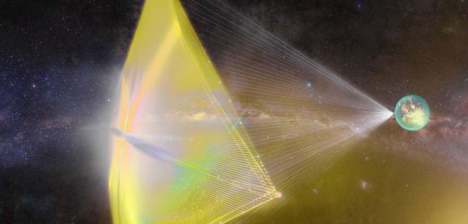 Artist's rendition of the light sail of Project Starshot. Courtesy of Breakthrough Initiatives.