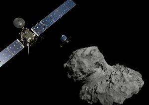 Artist's impression of Rosetta, Philae, and Comet 67P. [ESA/ATG medialab; ESA/Rosetta/NavCam]
