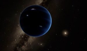 Artist's illustration of the hypothetical Planet Nine, a massive planet lurking in the outskirts of our solar system. [Caltech/Robert Hurt]